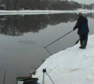Ловля на фидер зимой