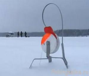 Ловля жерлицами судака зимой на озере Вселуг