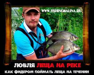 Лещевая рыбалка на течении фидером