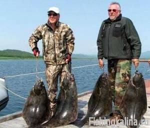 Рыболовные трофеи палтуса в Норвегии