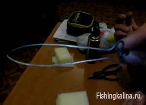 Форма из проволоки для изготовления поролоновых рыбок