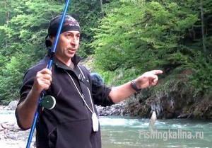 Рыбалка на форель на удочку с поплавком