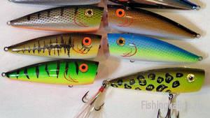 Поверхностные приманки для ловли хищной рыбы - попперы