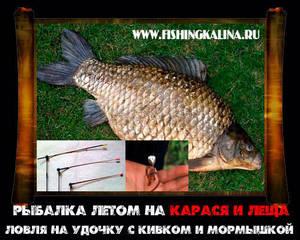 Рыбалка летом на карася с мормышкой
