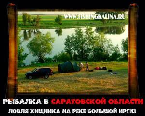 Рыбалка в Саратовской области на реке Иргиз