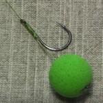 Оснастка на волосе для ловли рыбы