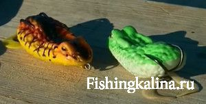 Приманка лягушка незацепляйка для рыбалки на змееголова