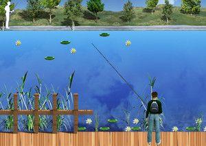 Озерная рыбалка играть в игру